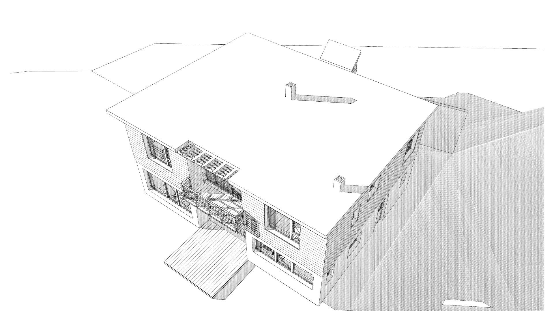 Maison en bois à Laussonne