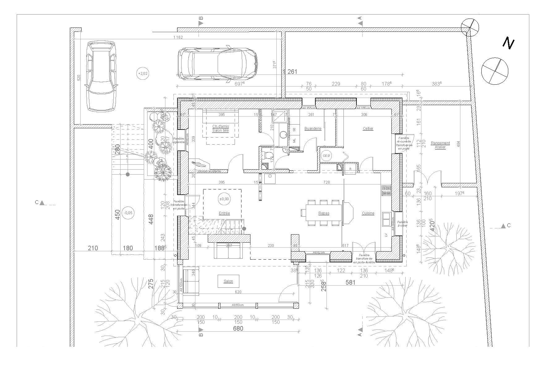 Rénovation et extension d'une maison à Aiguilhe