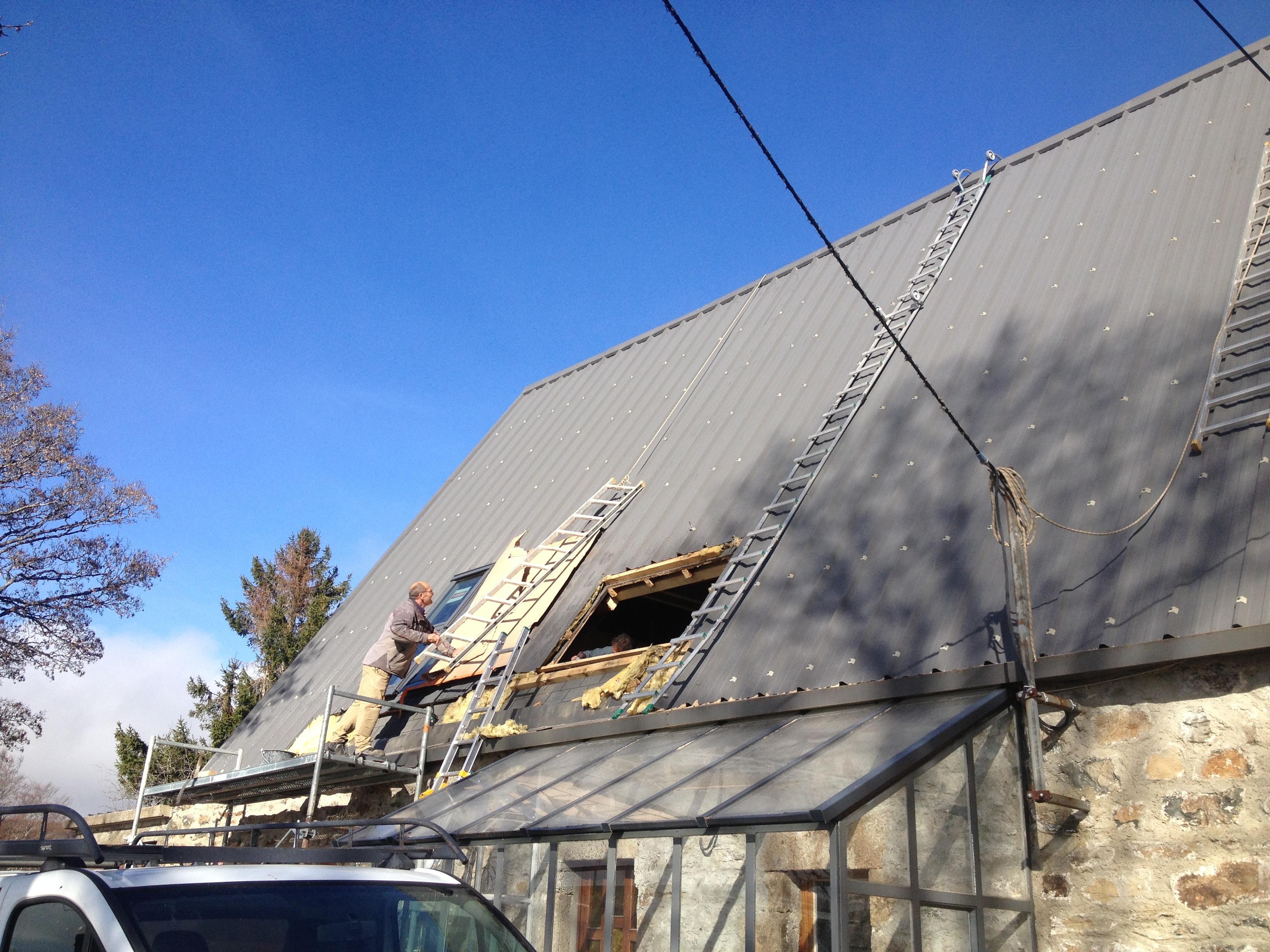 Rénovation d'une maison à Sainte Eulalie