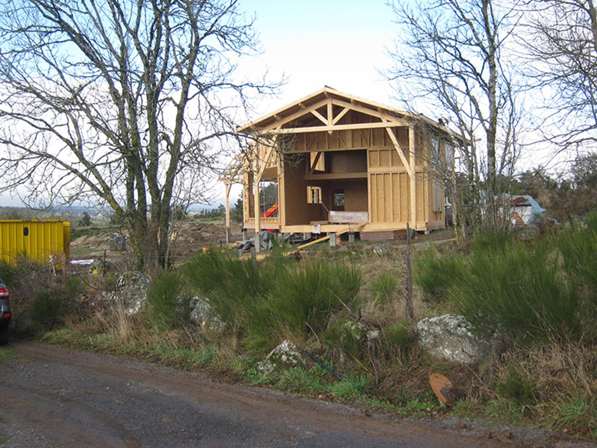 Maison à ossature bois à Rocles
