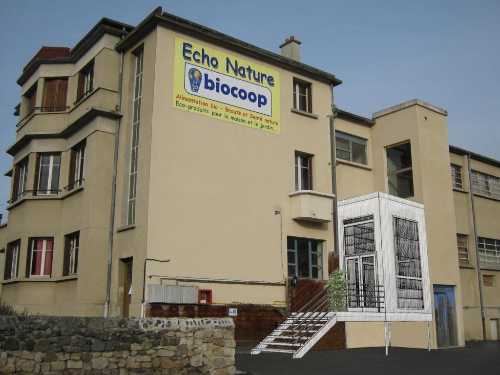 Rénovation et extension d'un magasin à Aiguilhe