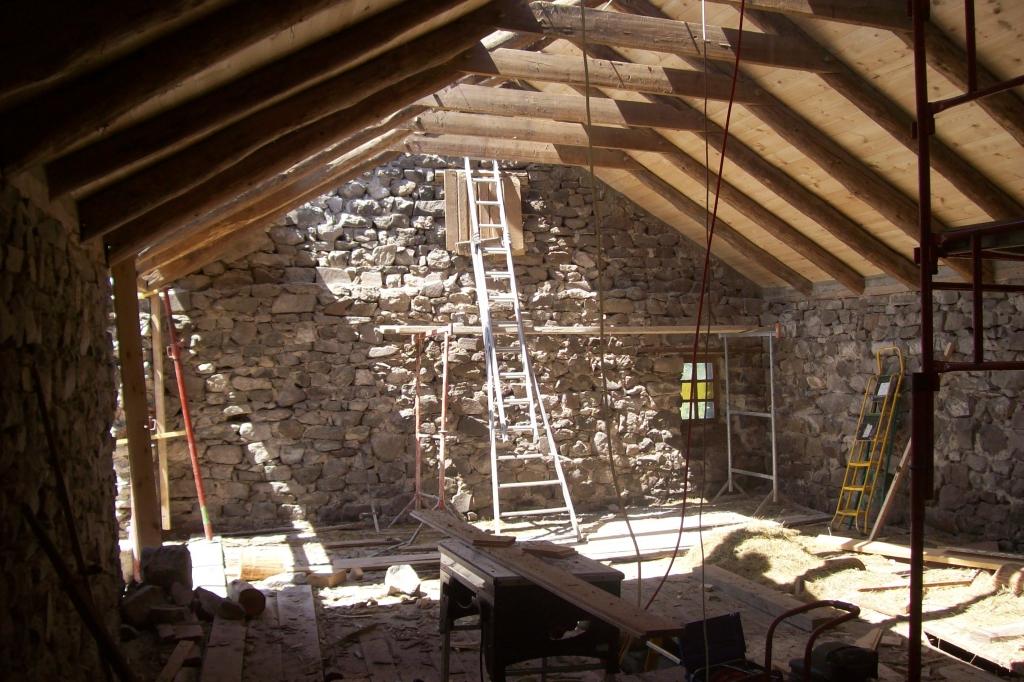 Rénovation d'une grange en maison à Saint Front