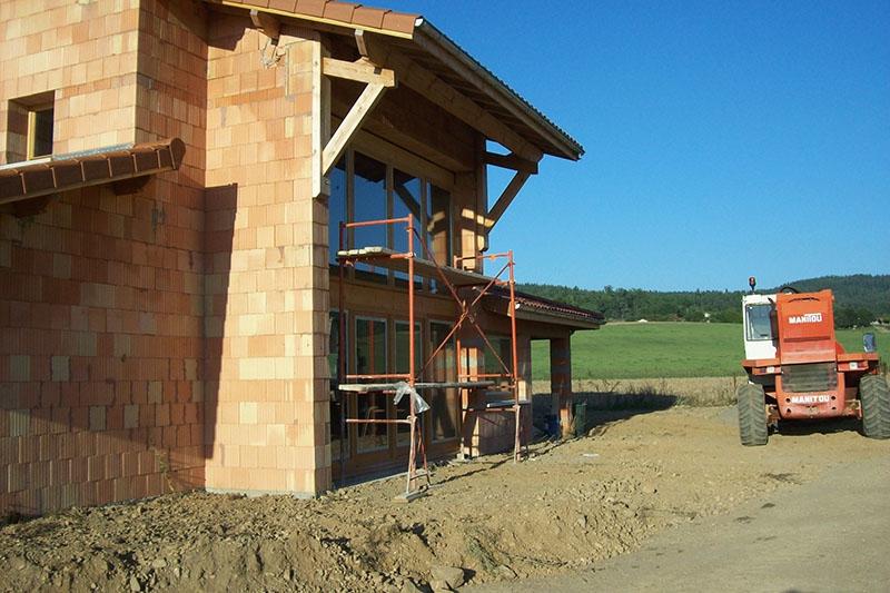 Maison en briques monomur à Chassagnes