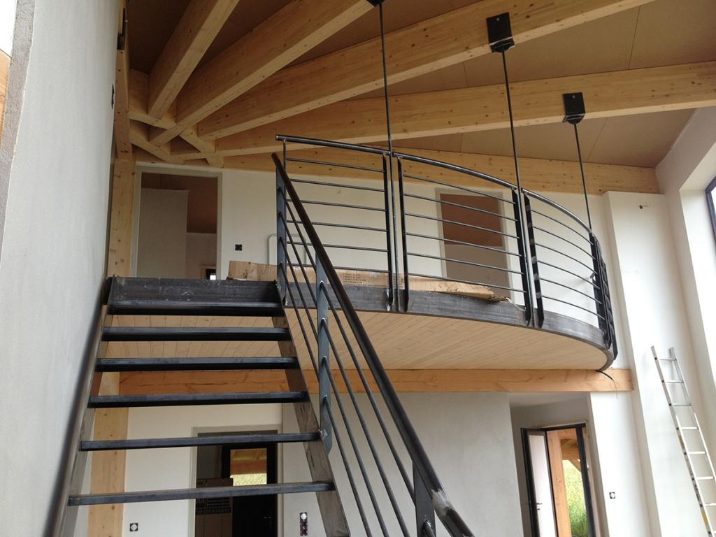 2011 maison ossature bois coubon eco architecte for Interieur maison neuve