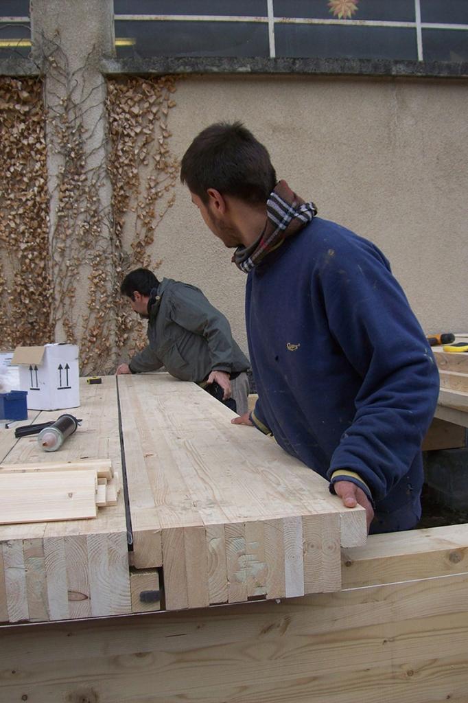 Echo Nature Biocoop en bois à Aiguilhe