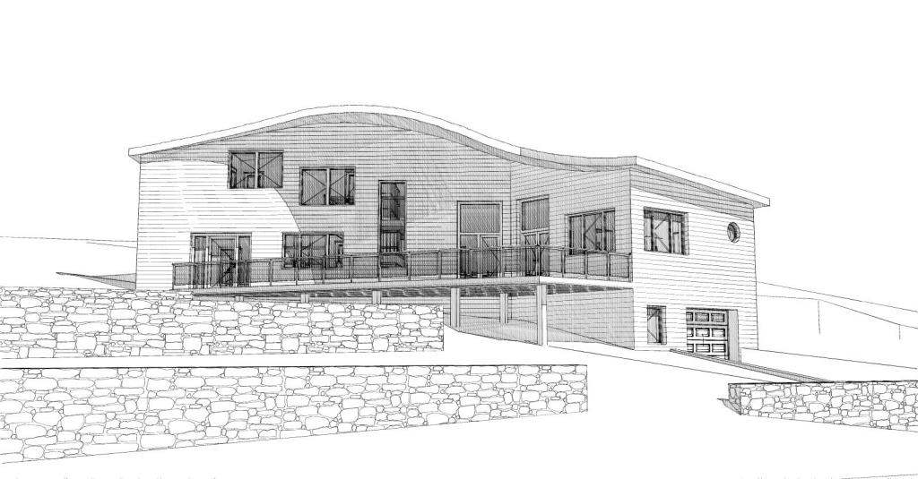 Construction d'une maison en bois à Saint Vidal