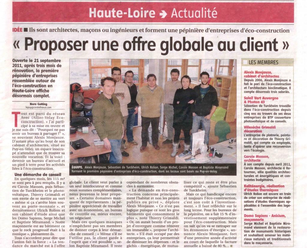 Création de la pépinière en Haute Loire
