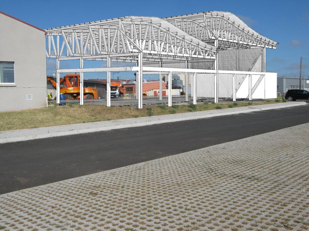 Construction d'un abri bois pour CFA à Bains