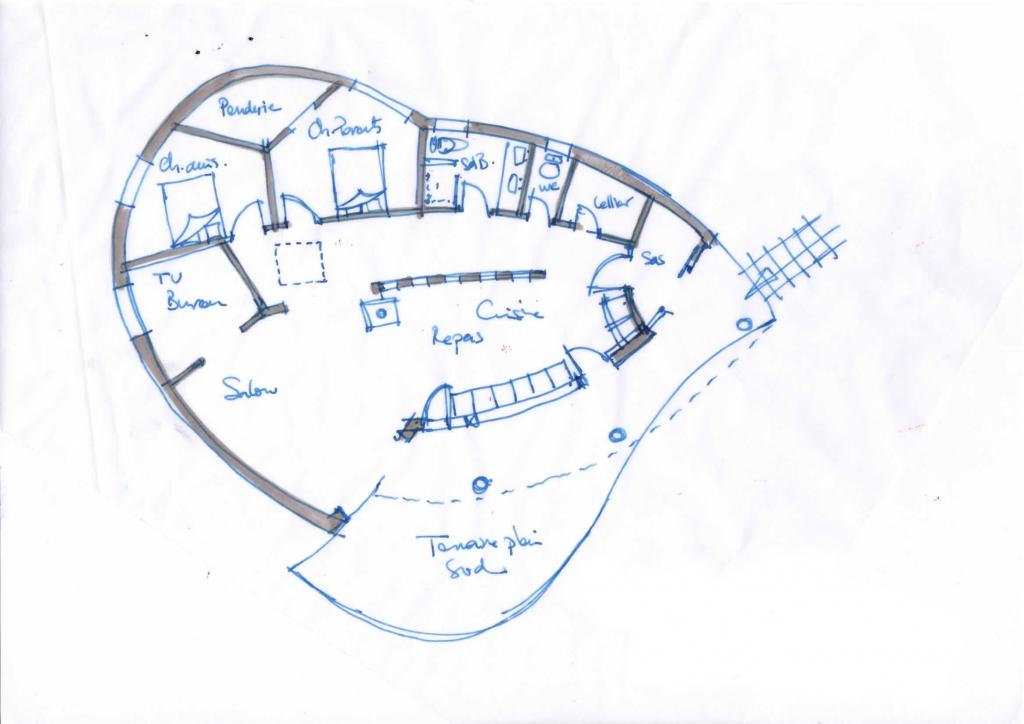 Projet maison en ossature bois et chanvre à Bas en Basset