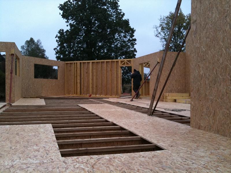 Maison en ossature bois sur pilotis en Lozère