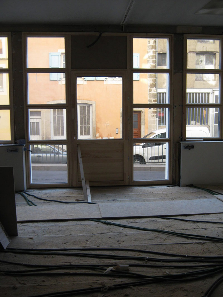 Photo du chantier de nos locaux au Puy-en-Velay