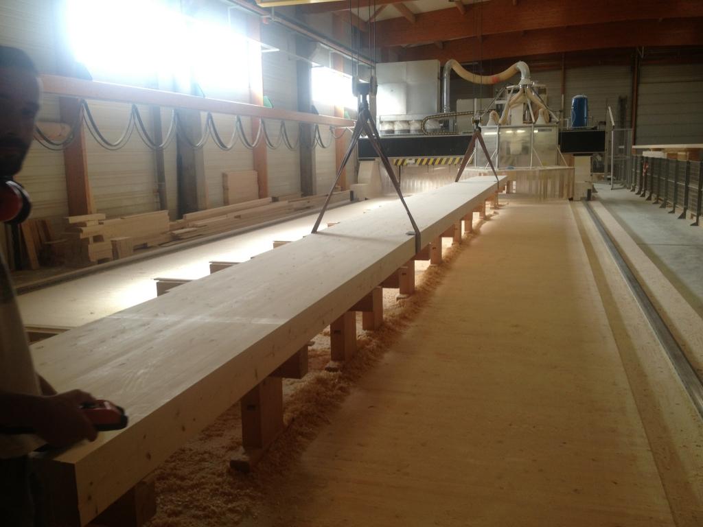 Fabrication charpente Lamellé Collé