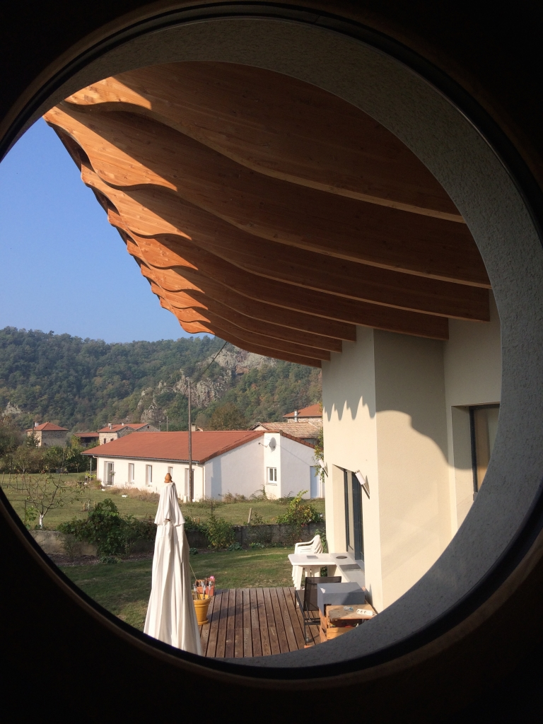 Débord de toiture, pas de chauffage central