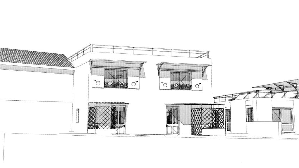 Rénovation et extension d'un immeuble à Aurec