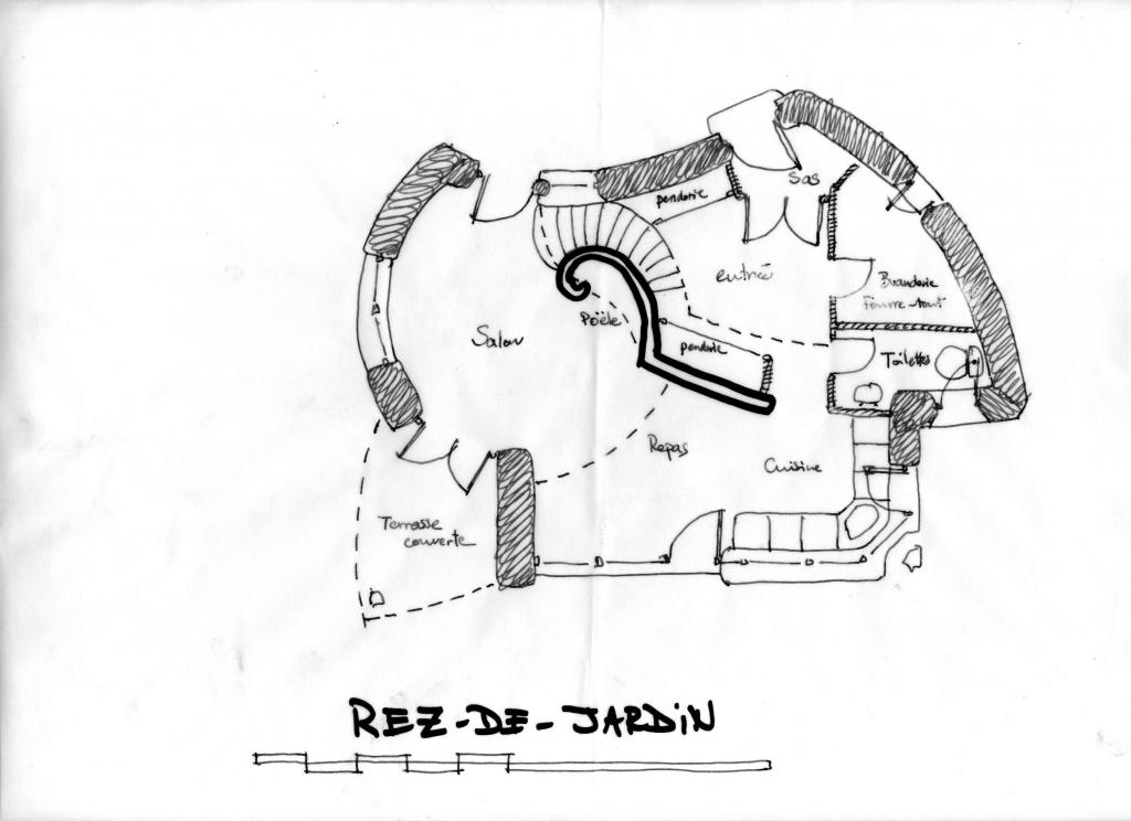 Projet de maison chaux - chanvre à Lavaudieu