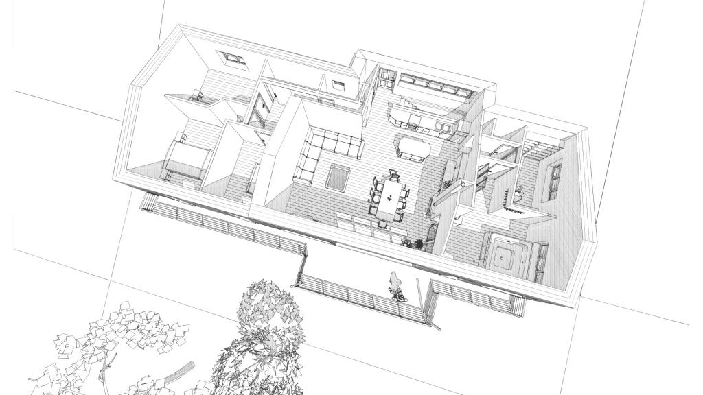Maison en ossature métallique à Mazeyrat d'Allier