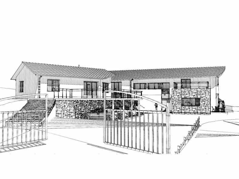 Maison en panneaux de bois massifs à Laussonne