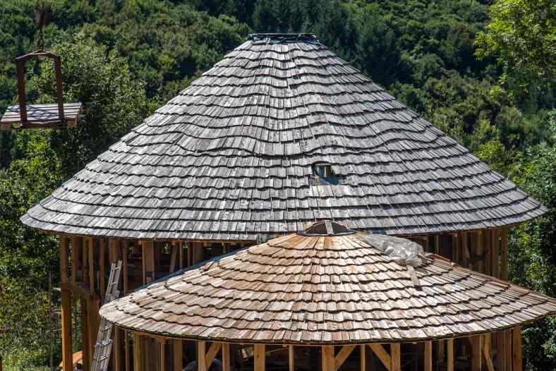 Maison en bois et paille à Desges - Yourtes