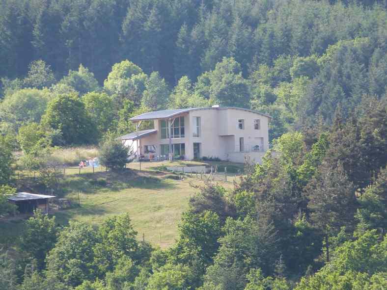 Maison à ossature bois et chaux/chanvre à Langeac
