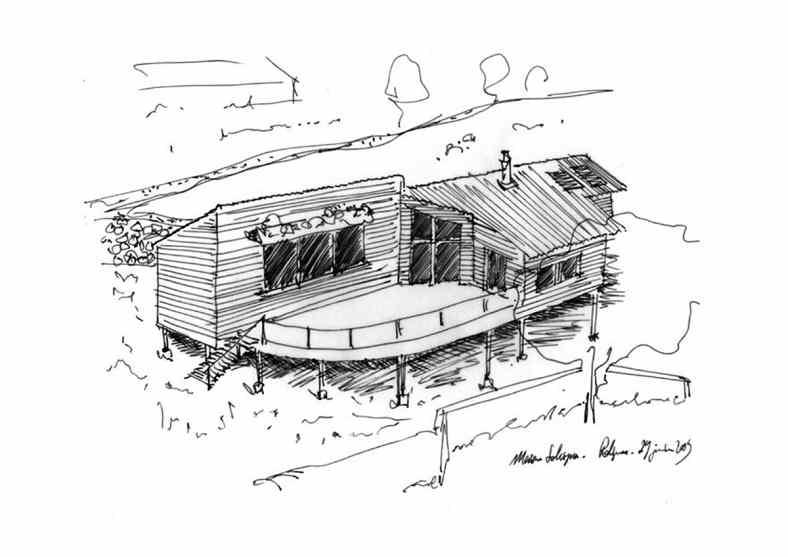 Maison à ossature bois à Polignac - Croquis