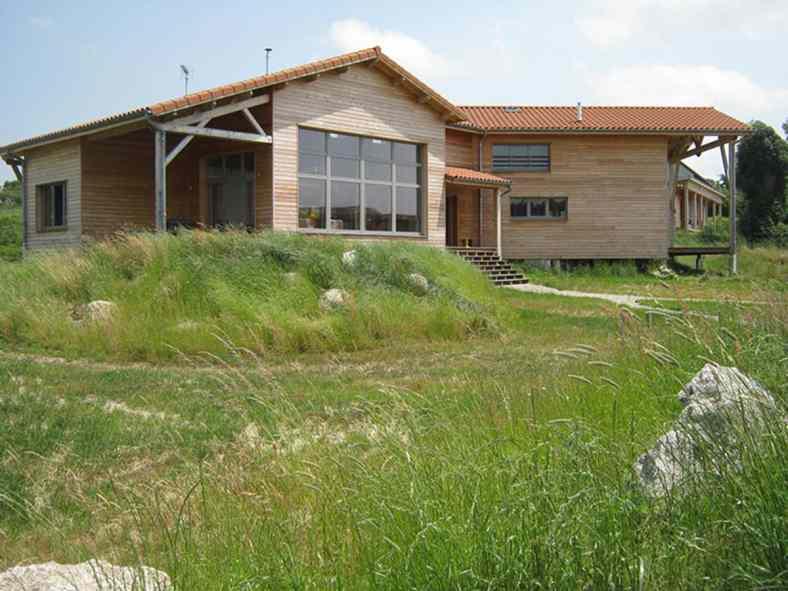 Maison bioclimatique en ossature bois à Rocles