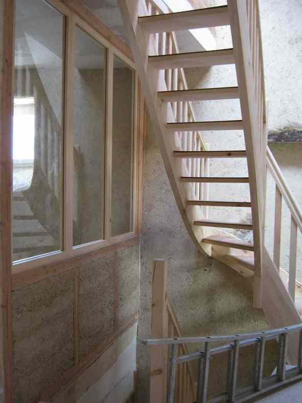 Eco-rénovation au Puy-en-Velay - Escalier en bois