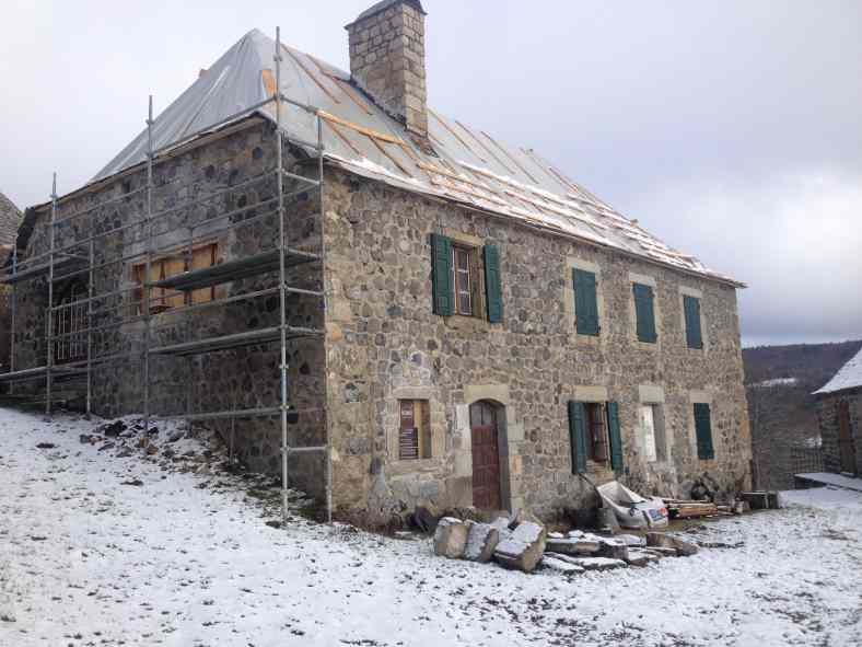 Rénovation en pierre à Sainte Eulalie