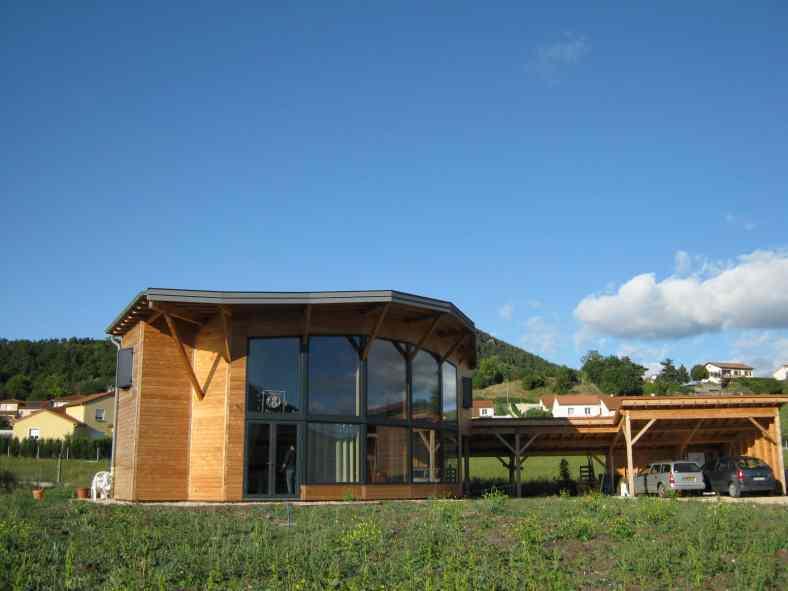 Maison en ossature bois à Coubon