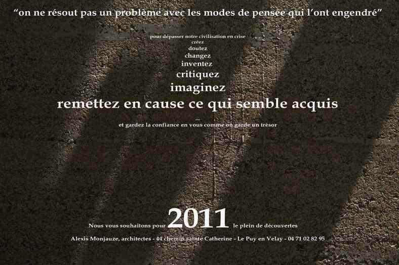 Monjauze architectes - Voeux 2011 - Le Puy-en-Velay