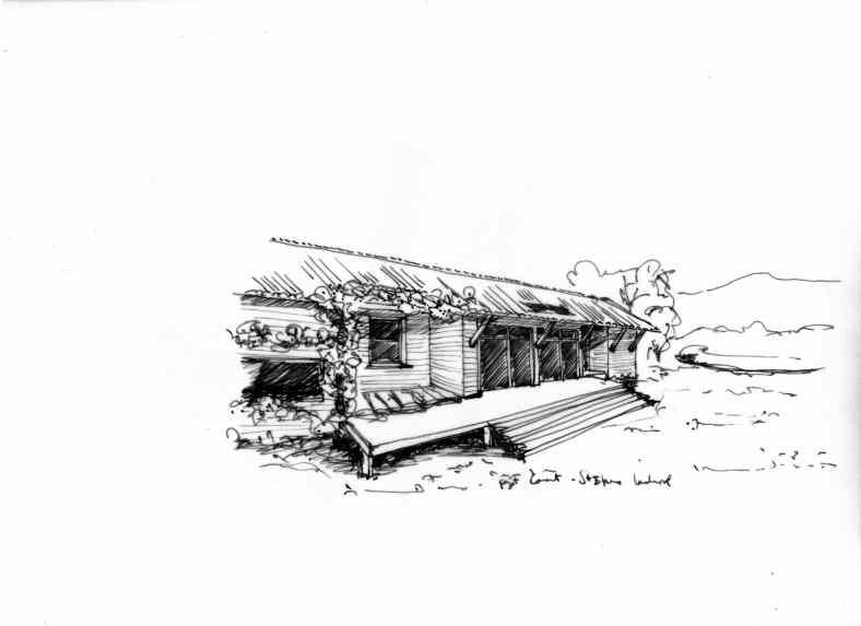 Monjauze architectes - Projet de maison en ossature bois et paille à St Etienne Lardeyrol