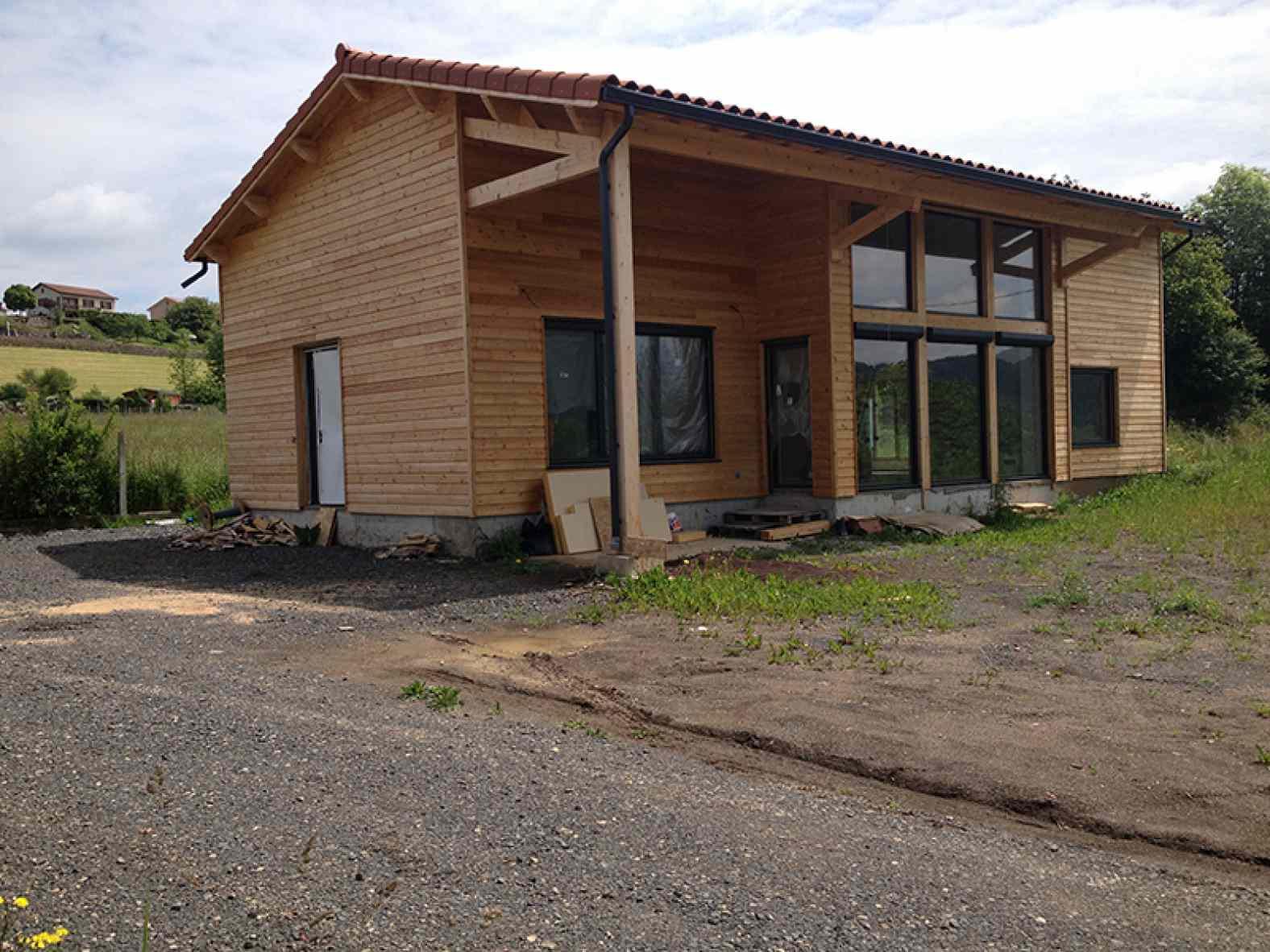 Maison à ossature bois à Coubon