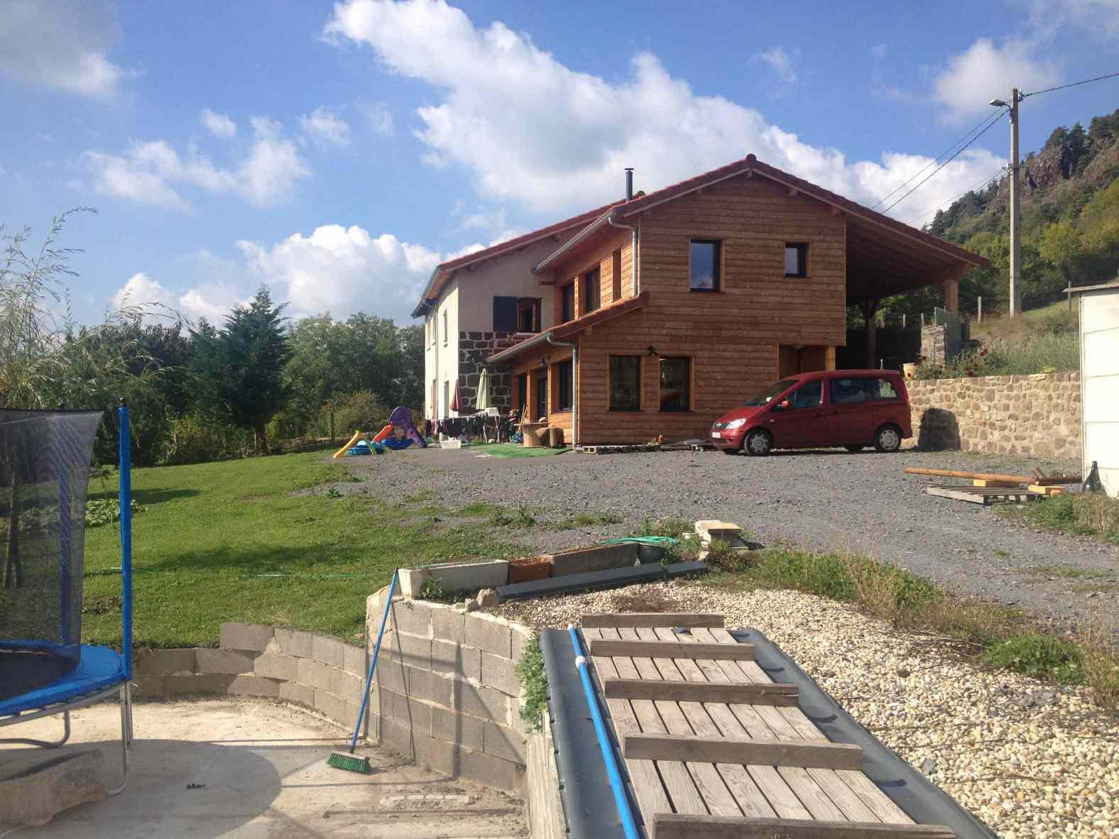 2011 r novation extension bois d 39 une maison en pierre polignac eco architecte. Black Bedroom Furniture Sets. Home Design Ideas