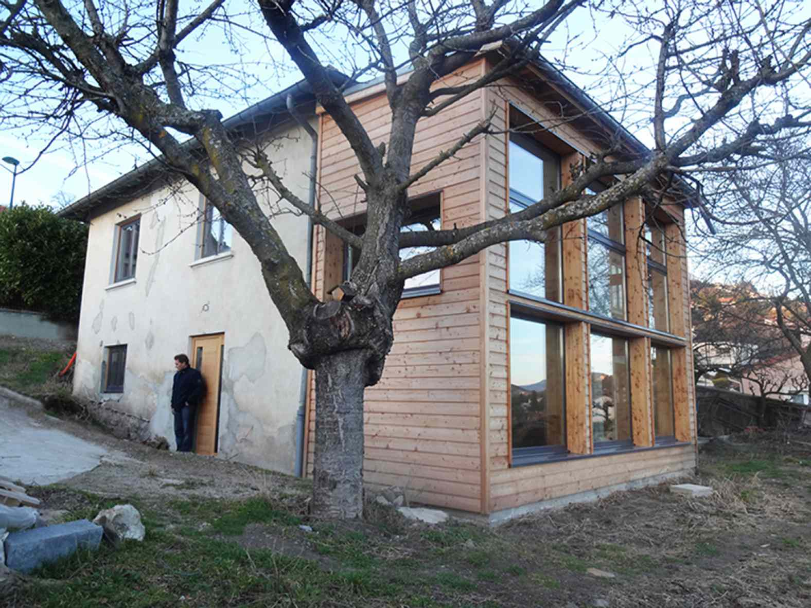 Extension en bois à Aiguilhe - Eco-rénovation