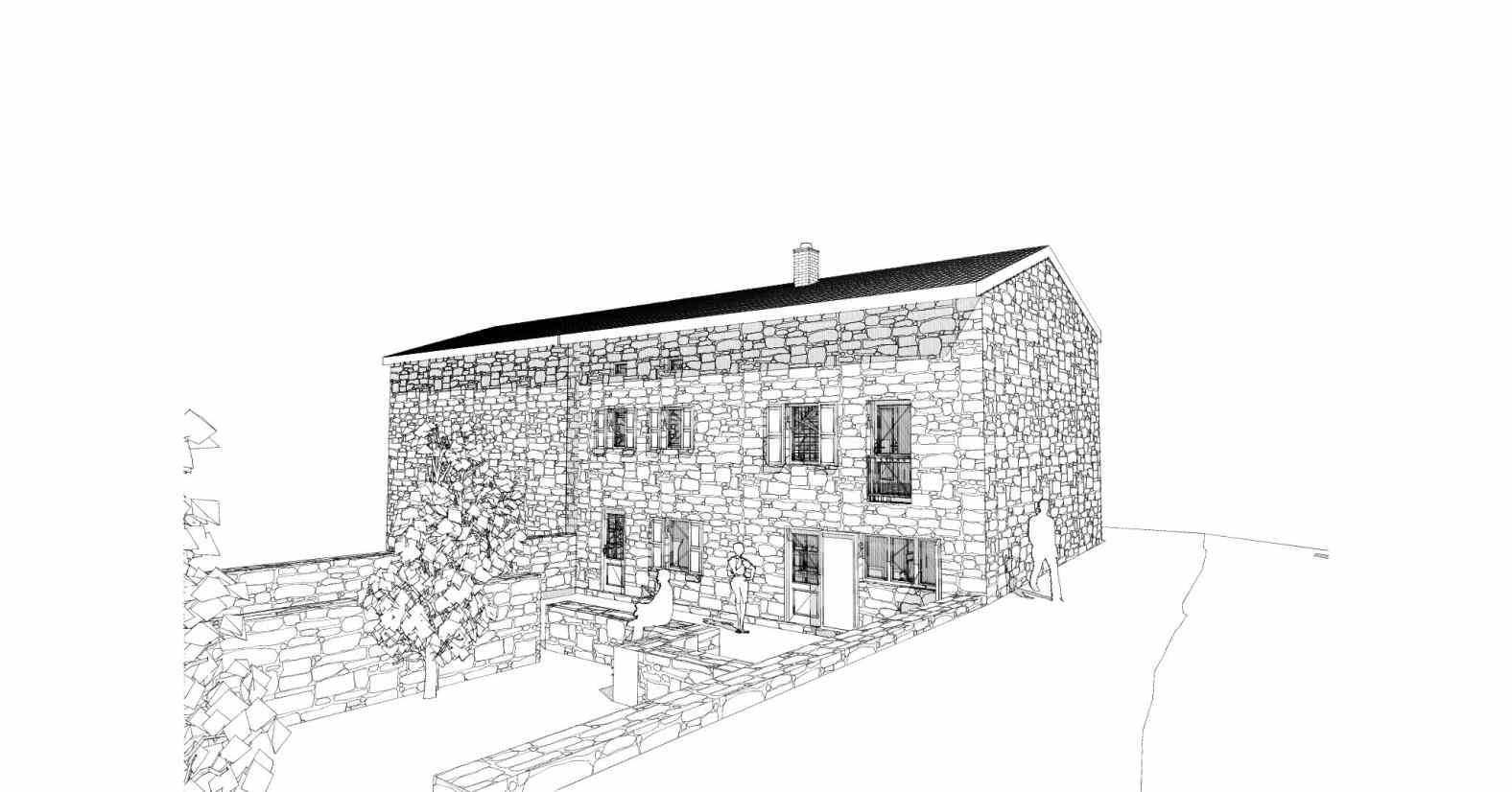 Rénovation d'une maison en pierre à Vorey sur Arzon