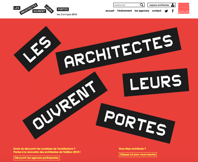Affiche Journées Portes Ouvertes des Architectes 2016