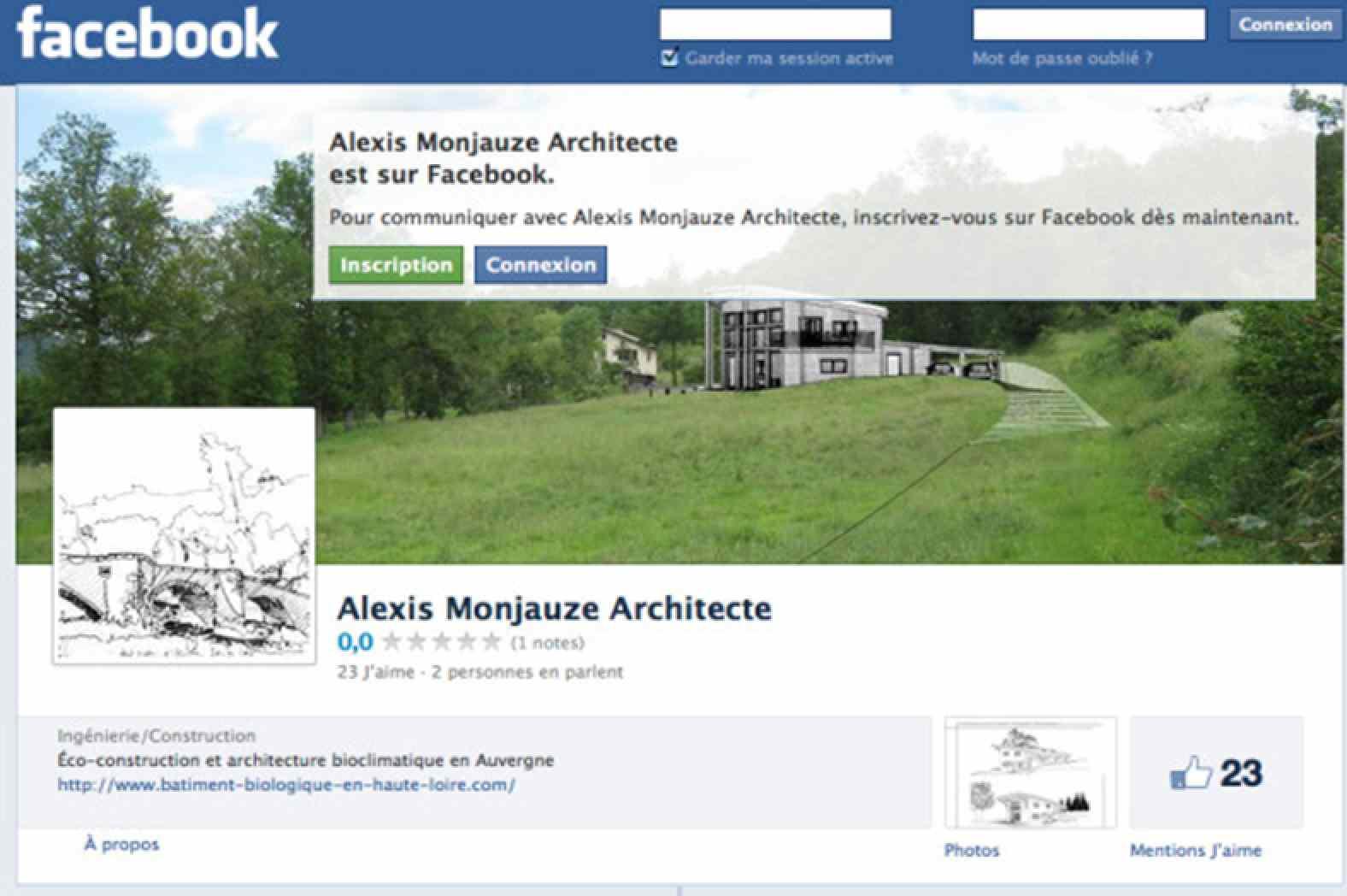 Monjauze architectes - Inauguration page facebook