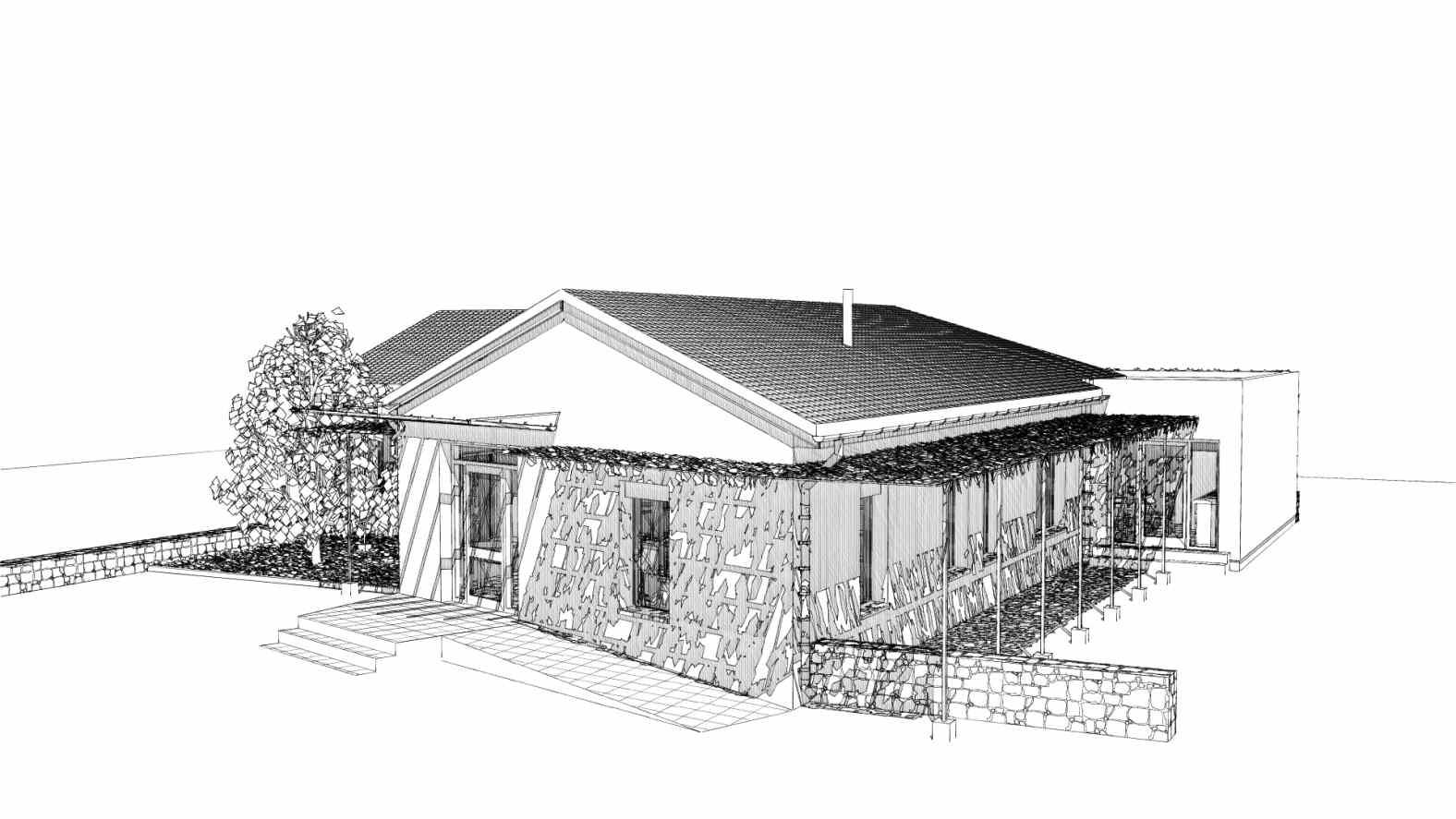 Projet d'extension - rénovation à Coubon