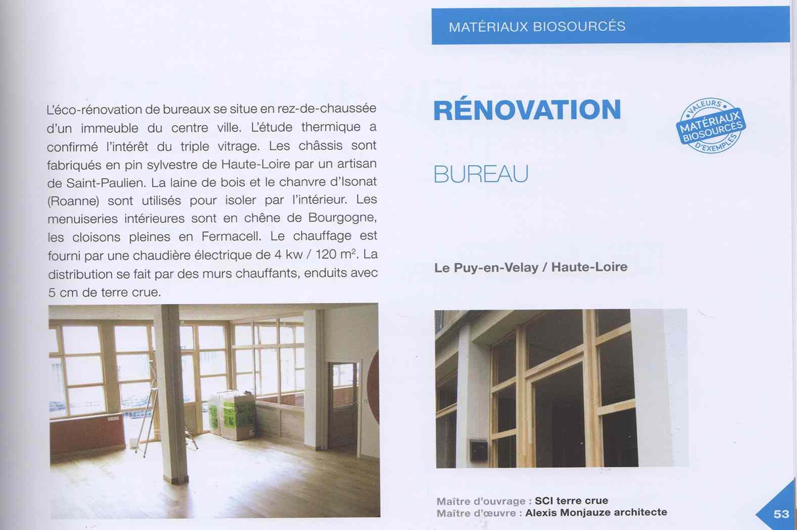 Rénovation de nos bureaux au Puy-en-Velay